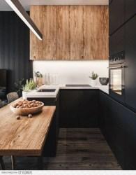 Delicate Black Kitchen Interior Design Ideas For Kitchen To Have Asap 30