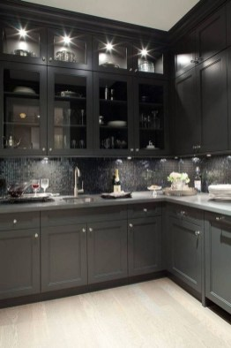 Delicate Black Kitchen Interior Design Ideas For Kitchen To Have Asap 35