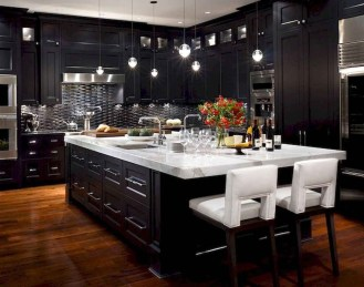 Delicate Black Kitchen Interior Design Ideas For Kitchen To Have Asap 38