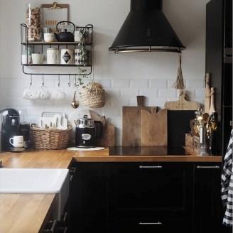 Delicate Black Kitchen Interior Design Ideas For Kitchen To Have Asap 43