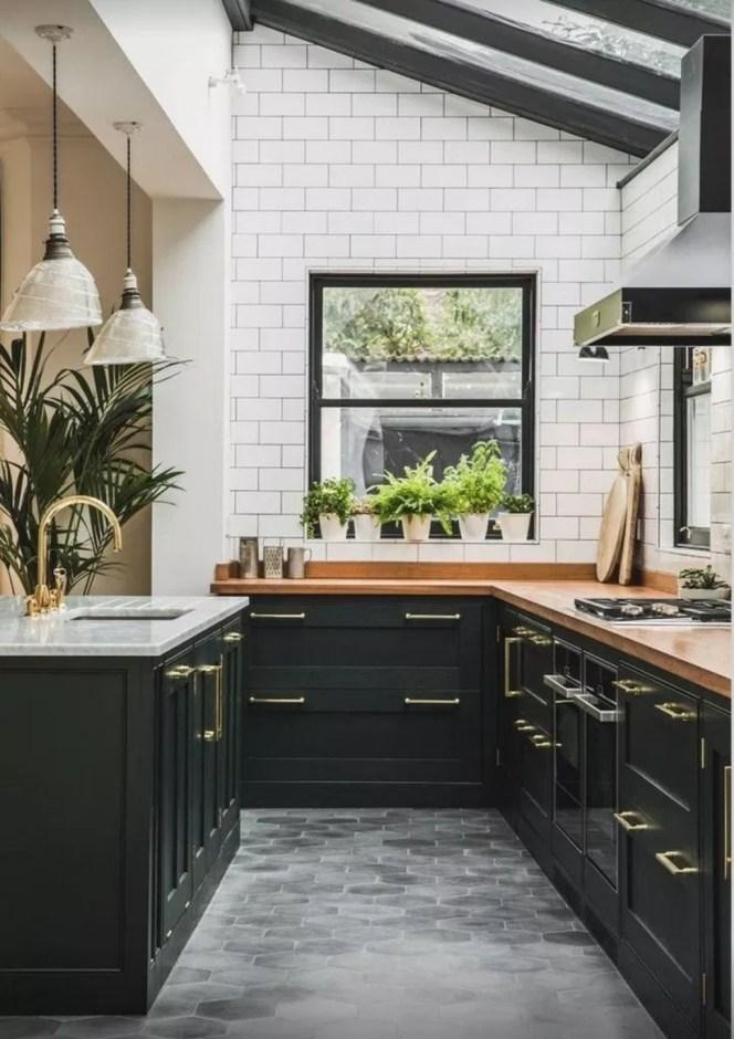 Delicate Black Kitchen Interior Design Ideas For Kitchen To Have Asap 46