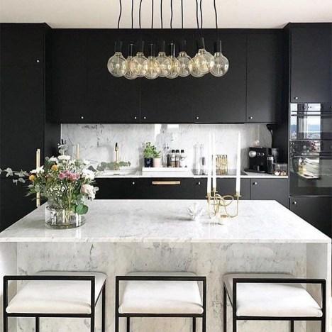 Delicate Black Kitchen Interior Design Ideas For Kitchen To Have Asap 48