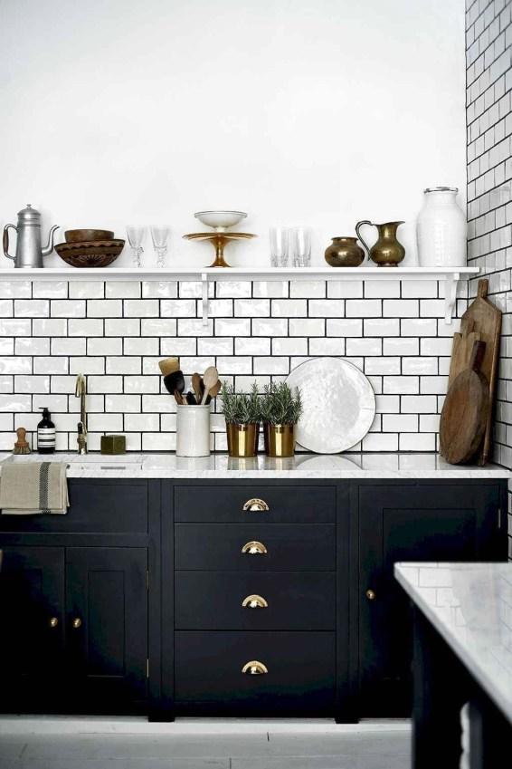 Delicate Black Kitchen Interior Design Ideas For Kitchen To Have Asap 49