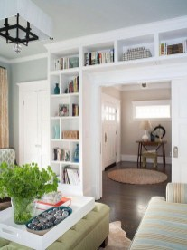 Easy And Simple Shelves Decoration Ideas For Living Room Storage 05