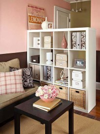 Easy And Simple Shelves Decoration Ideas For Living Room Storage 12