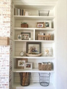 Easy And Simple Shelves Decoration Ideas For Living Room Storage 20