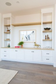 Easy And Simple Shelves Decoration Ideas For Living Room Storage 23