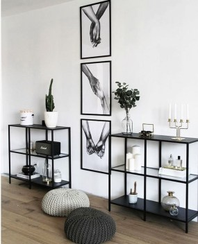 Easy And Simple Shelves Decoration Ideas For Living Room Storage 25