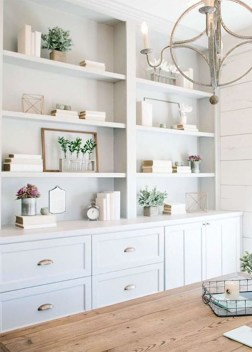 Easy And Simple Shelves Decoration Ideas For Living Room Storage 26