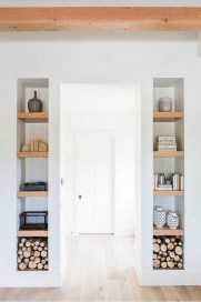Easy And Simple Shelves Decoration Ideas For Living Room Storage 48