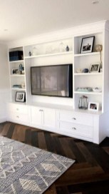 Easy And Simple Shelves Decoration Ideas For Living Room Storage 49