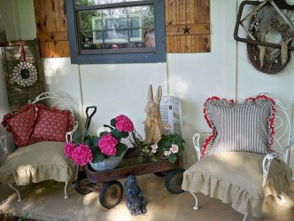 Elegant Chair Decoration Ideas For Spring Porch 29