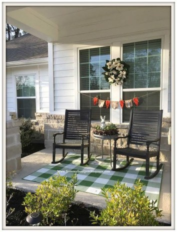 Elegant Chair Decoration Ideas For Spring Porch 42