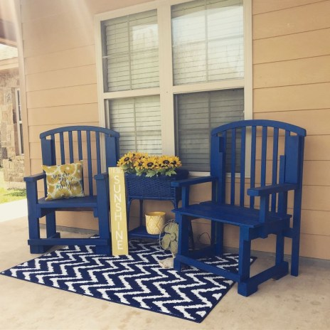 Elegant Chair Decoration Ideas For Spring Porch 44