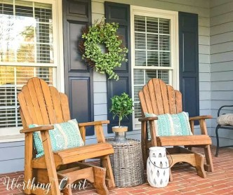 Elegant Chair Decoration Ideas For Spring Porch 45
