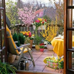 Fascinating Small Balcony Ideas With Relax Seating Area 05