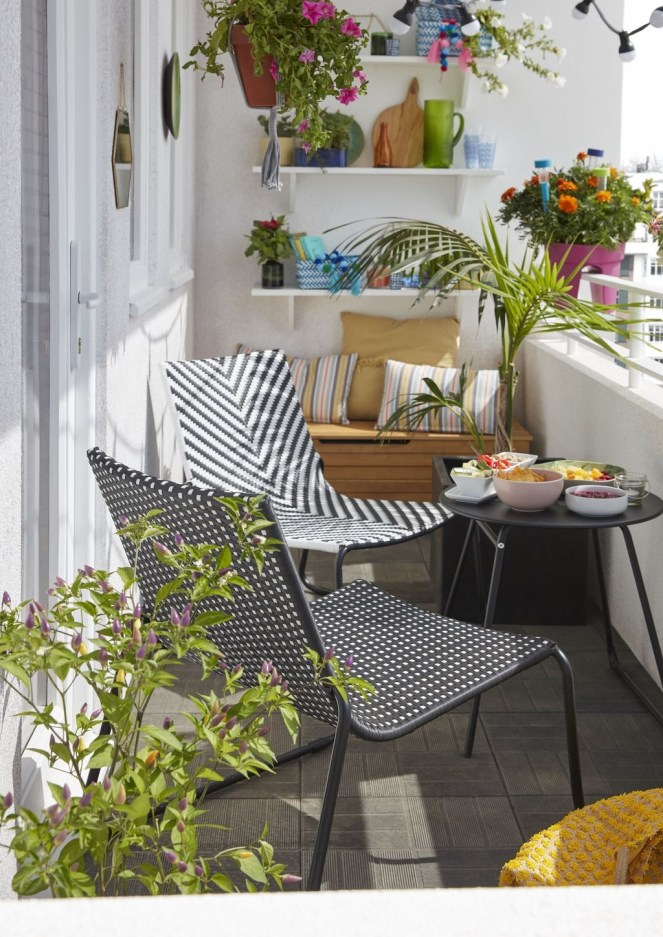 Fascinating Small Balcony Ideas With Relax Seating Area 10