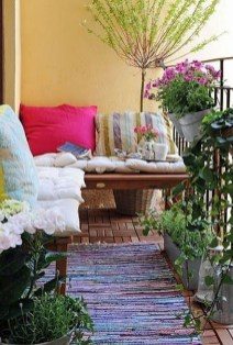 Fascinating Small Balcony Ideas With Relax Seating Area 14