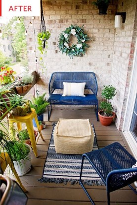 Fascinating Small Balcony Ideas With Relax Seating Area 35