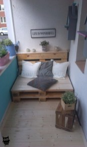 Fascinating Small Balcony Ideas With Relax Seating Area 44