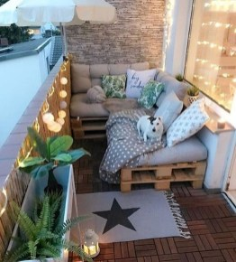 Fascinating Small Balcony Ideas With Relax Seating Area 45