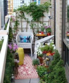 Fascinating Small Balcony Ideas With Relax Seating Area 46