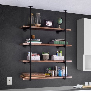 Innovative DIY Industrial Pipe Shelves You Can Make At Home 02