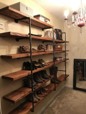 Innovative DIY Industrial Pipe Shelves You Can Make At Home 21