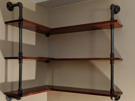 Innovative DIY Industrial Pipe Shelves You Can Make At Home 29