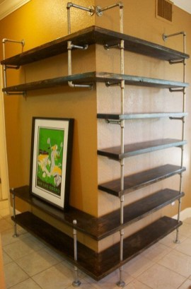 Innovative DIY Industrial Pipe Shelves You Can Make At Home 36