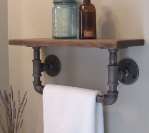 Innovative DIY Industrial Pipe Shelves You Can Make At Home 42