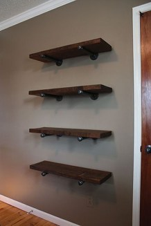 Innovative DIY Industrial Pipe Shelves You Can Make At Home 46