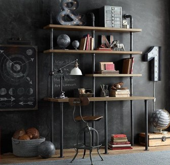 Innovative DIY Industrial Pipe Shelves You Can Make At Home 47