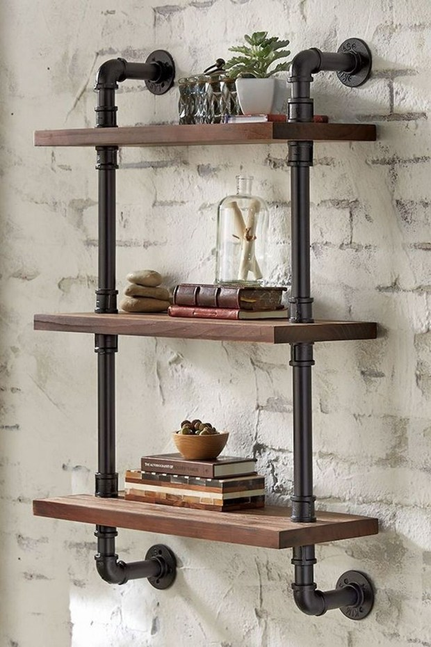 Innovative DIY Industrial Pipe Shelves You Can Make At Home 48