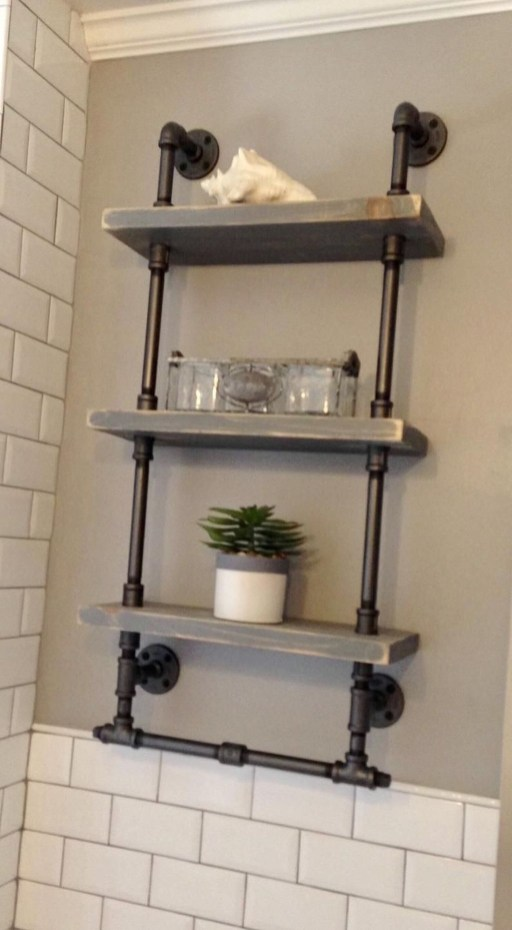 Innovative DIY Industrial Pipe Shelves You Can Make At Home 49