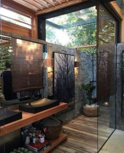 Spectacular Outdoor Bathroom Design Ideas That Feel Like A Vacation 29