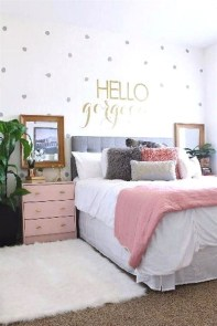 Stunning Teenage Bedroom Decoration Ideas With Big Bed 04