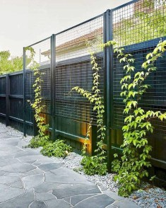 Beautiful Garden Fence Decorating Ideas To Follow 22
