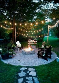 Comfy Spring Backyard Ideas With A Seating Area That Make You Feel Relax 39