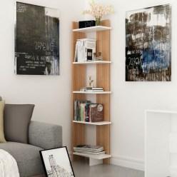 Creative Floating Corner Shelves For Living Room Organization Ideas 03