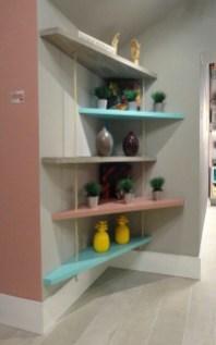 Creative Floating Corner Shelves For Living Room Organization Ideas 22