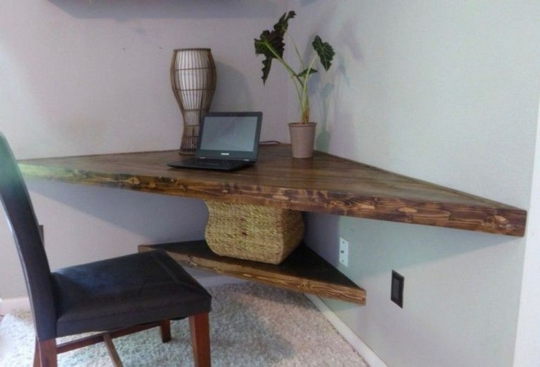 Creative Floating Corner Shelves For Living Room Organization Ideas 30