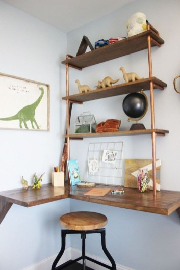 Creative Floating Corner Shelves For Living Room Organization Ideas 31