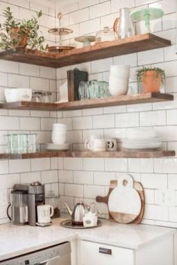 Creative Floating Corner Shelves For Living Room Organization Ideas 42