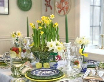 Easy And Natural Spring Tablescape To Home Decor Ideas 05
