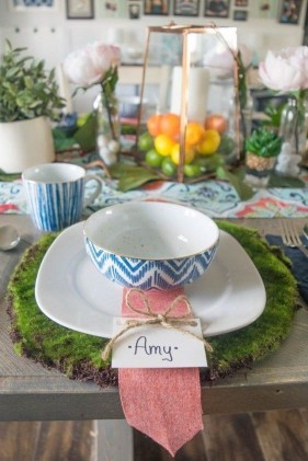 Easy And Natural Spring Tablescape To Home Decor Ideas 09