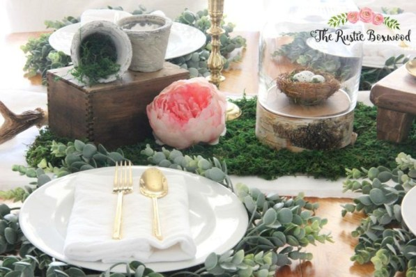 Easy And Natural Spring Tablescape To Home Decor Ideas 35