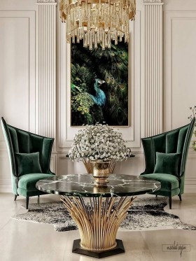 Fancy Gold Color Interior Design Ideas For Your Home Style To Copy 34