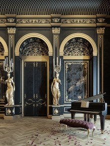 Fancy Gold Color Interior Design Ideas For Your Home Style To Copy 38
