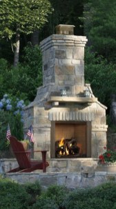 Marvelous Backyard Fireplace Ideas To Beautify Your Outdoor Decor 01